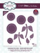 Sue Wilson Craft Dies - Finishing Touches Collection Sunflower Bouquet Die - CED1490